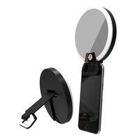 BIBOVI Universal Makeup Mirror LED Flash Fill Light Cosmetic Bag For IPhone SE X 6 Samsung