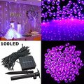 12M 100 LED Solar Light String Lamps Fairy Lights Garlands Holiday Garden Christmas Wedding Solar Lights Party Decoration