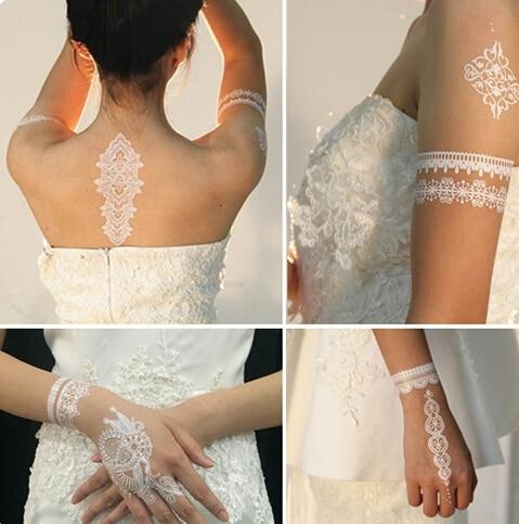 120sheets White Henna Tattoo Sticker Temporary White Tattoo Body Art