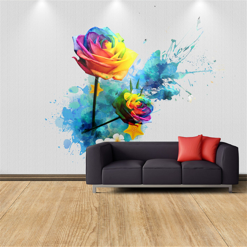 3d effect modern custom photo wallpaper bedroom living room background wall mural large wall painting rose TV set wallpaper