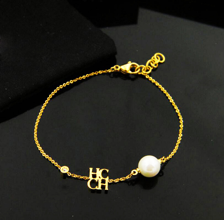 Ol Style Fashion Charm Chains Bangle Bracelets High Grade Fine Ch Letters Pearl Bracelet For Women In Chain Link From Jewelry Accessories On