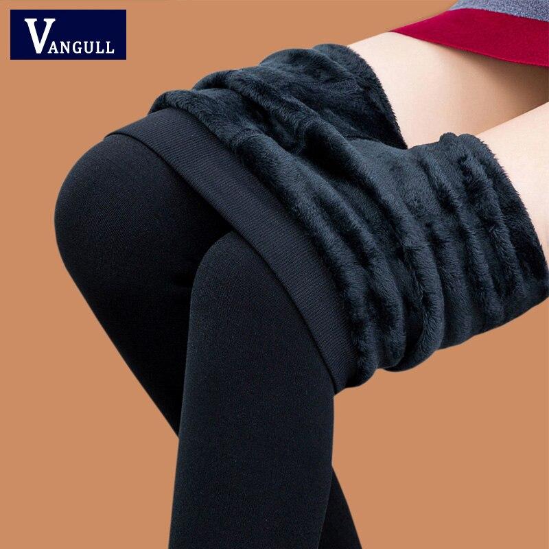 Women Winter Pants Fleeces Inside Warm Leggings Printed High Waist Footless Trousers Female Pencil Pants Boots Cut