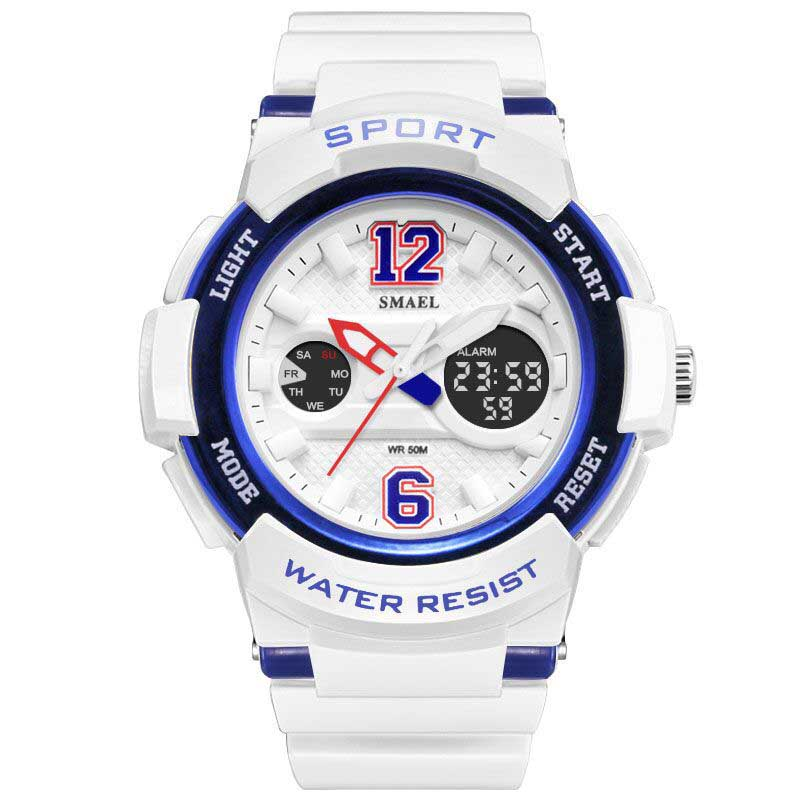 Fashion Men Watch Digital Quartz Dual Movement luminous Wristwatches Sports Watches Waterproof women Clock LED Wrist Watch LB