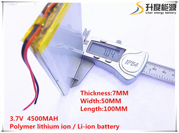 10pcs [SD] 3.7V,4500mAH,[7050100] Polymer lithium ion / Li-ion battery for TOY,POWER BANK,GPS,mp3,mp4,cell phone,speaker