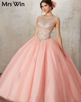 Vestidos De 15 Anos Debutante Gown Cheap Puffy Ball Gown Quinceanera Dresses 2019 Coral Quinceanera Dresses For 15 Years