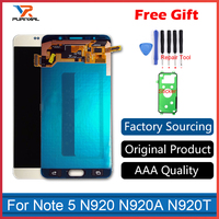 White Silver Gold Blue Super Amoled Pantalla For Samsung Galaxy Note 5 N9200 N920G LCD Dispaly