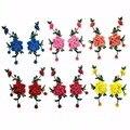 6e23a45749 1Pair13. 5 26 cm Soluble en agua colorido bordado parches Handmade 3D flor  bordada