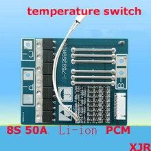 8 S 50A 33.6 V lipo lityum Polimer BMS/PCM/PCB pil koruma devre 8 Paketleri 18650 li ion pil Hücre w/Sıcaklık