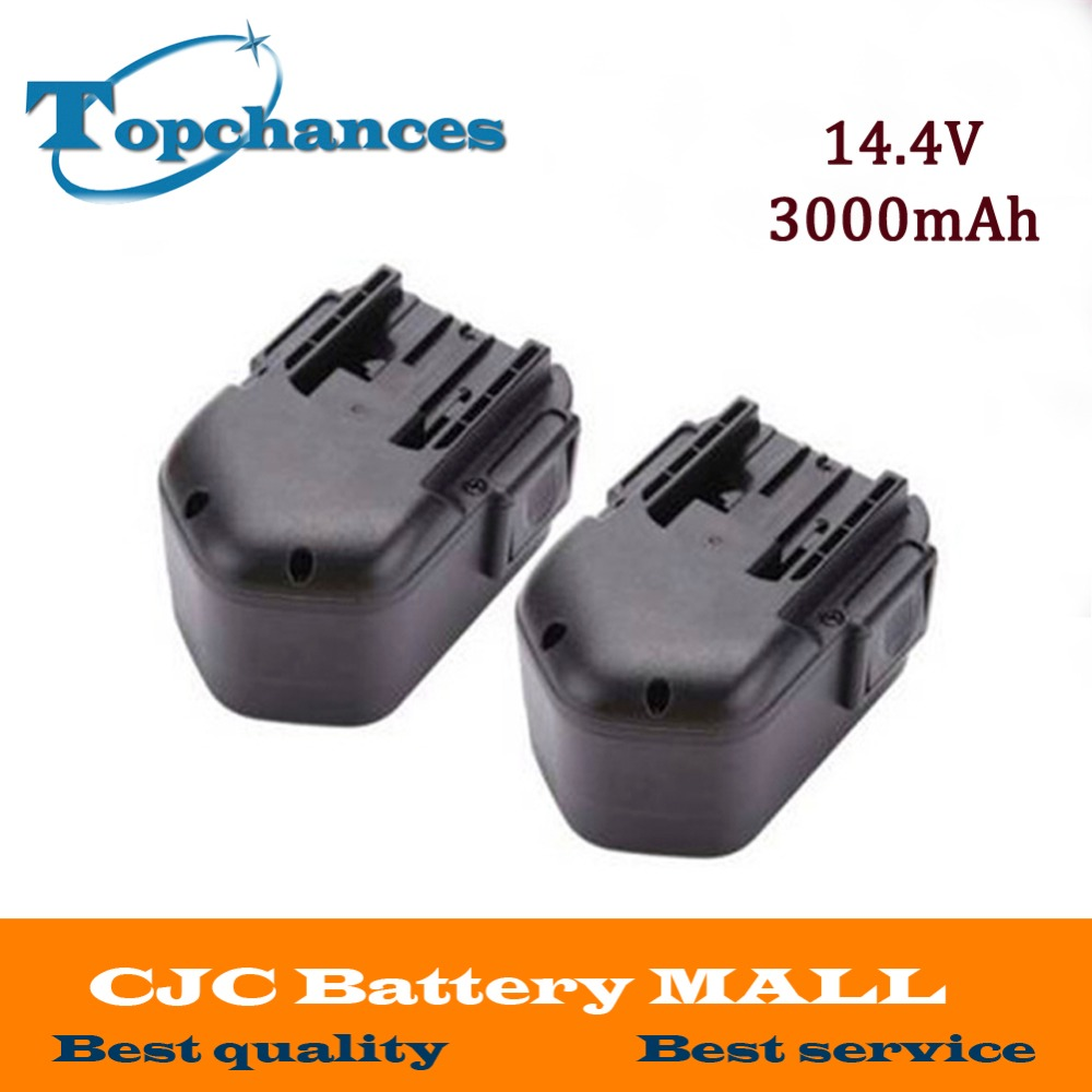 2PCS 14.4V 3.0Ah 3000mAh NI-MH Power Tool Battery For MILWAUKEE 48-11-1000 48-11-1024 0514-24 Cordless Drill 2 pcs 3 6v 2100mah ni mh rechargeable power tool battery replacement for black