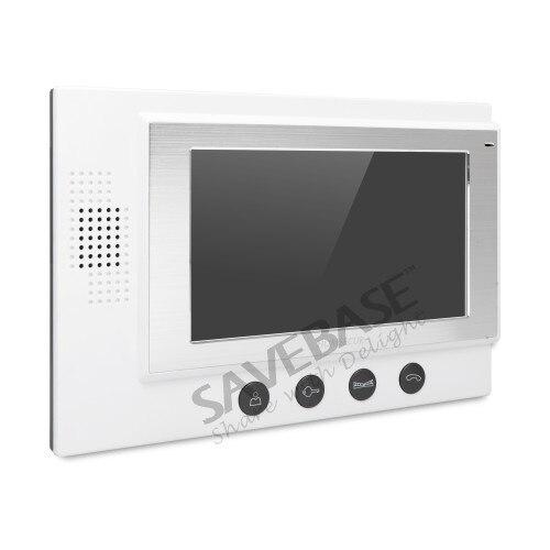HOMSECUR 7 проводной видео и аудио дома, домофон + серебро Камера для дома безопасности: TC021-S Камера (серебро) + TM701-W монитор (белый)