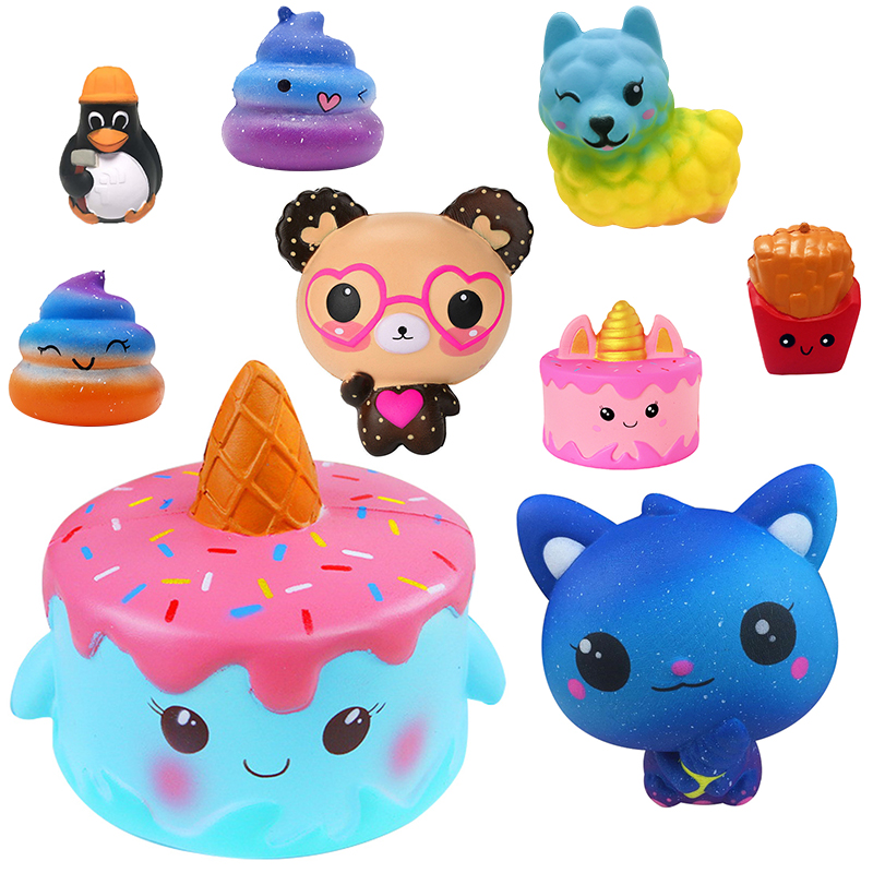 Stress Relief Toy Toys & Hobbies 2019 Fashion 10cm Squishies Kitty Doughnut Slow Rising Cream Scented Stress Relief Toys Squish Cartoon Kid Toys