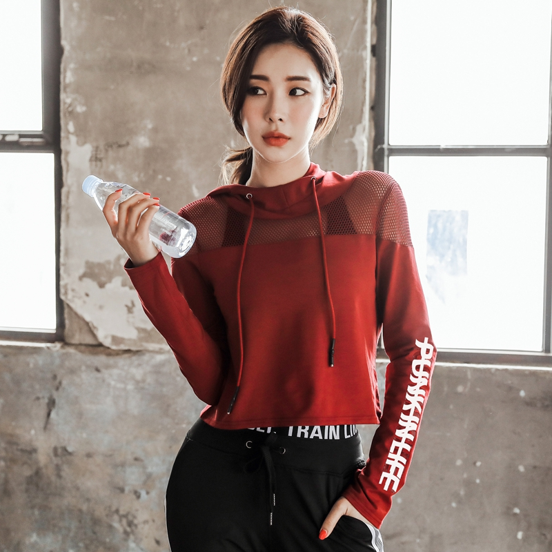 Women Shirt for Fitness Mesh Yoga Top Sport Running Shirts Women Jersey Long Sleeve Sport Top Fitness Gym Workout Top Yoga Shirt cropped wide sleeve top