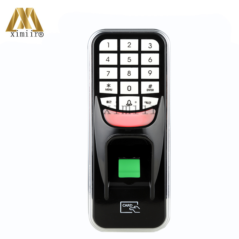 Biometric Fingerprint Access Control USB Door Access Control System With RFID Card Reader Standalone Time Attendance F801 zk iface701 face and rfid card time attendance tcp ip linux system biometric facial door access controller system with battery