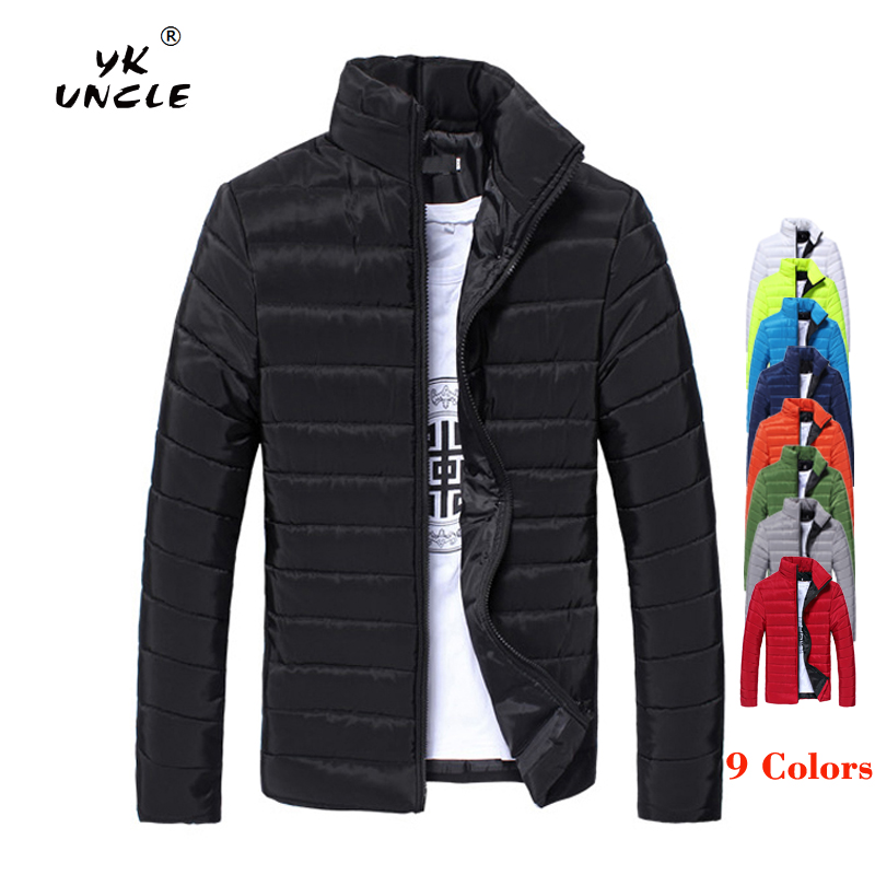 YK UNCLE Brand Winter Jacket Men 2019 New Cotton Padded Jackets   Parka   Slim Fit Long Sleeve Quilted Outerwear Clothing Warm Coats
