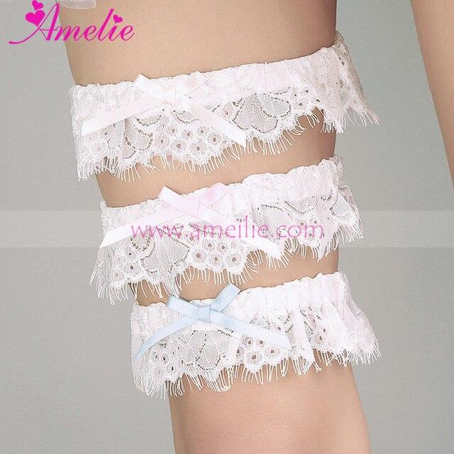 Handmade Wedding Accessories Lace Elegant Ribbon Bow Lace Garter Wedding  Garter Belt Wedding Props