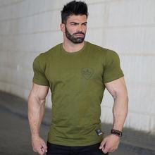 2017 summer new mens cotton t shirt fitness Short sleeve o neck shirts male Fashion leisure