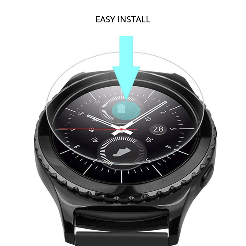 Image 4 - 2Pcs/lot Tempered Glass For Samsung Galaxy Watch Glass 42mm 46mm 9H 2.5D Screen Protector For Samsung Galaxy Watch 46mm Film-in Phone Screen Protectors from Cellphones & Telecommunications