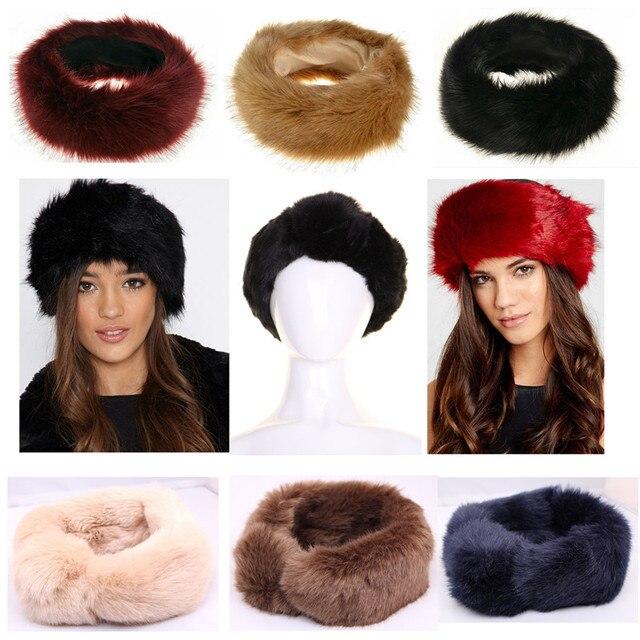 e0e7ab9d157 New Russian FOX Faux Fake Fur Hat HeadBand Winter Earwarmer Hat on ...