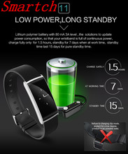Smartch N108 smart Сердечного ритма Приборы для измерения артериального давления Мониторы Фитнес браслет шагомер часы вызова/SMS напоминание браслет SH025