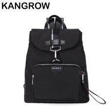 Kangrow модные Для мужчин Рюкзаки простой узор Черный насыщенный Для Мужчин's Повседневное Daypacks темно-Сумки на плечо