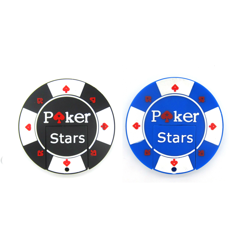 Hot Creative Poker Chips Pen Drive USB Flash Drive  64GB Memory Stick 32GB 16GB Pendrive 8GB  4GB Thumbdrive U Disk Fashion Gift
