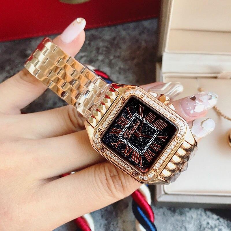 2018 женские наручные часы Стальные Новые женские часы классические роскошные Брендовые женские часы Relogio Feminino - 3