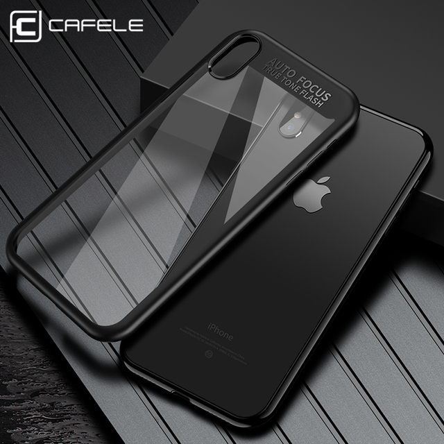 newest 478c7 d0b12 US $4.99 |CAFELE Full Coverage Case for iPhone X TPU+Acrylic Fashion Luxury  Transparent Back Cover Ultra thin Shockproof Case for iphone X-in Fitted ...