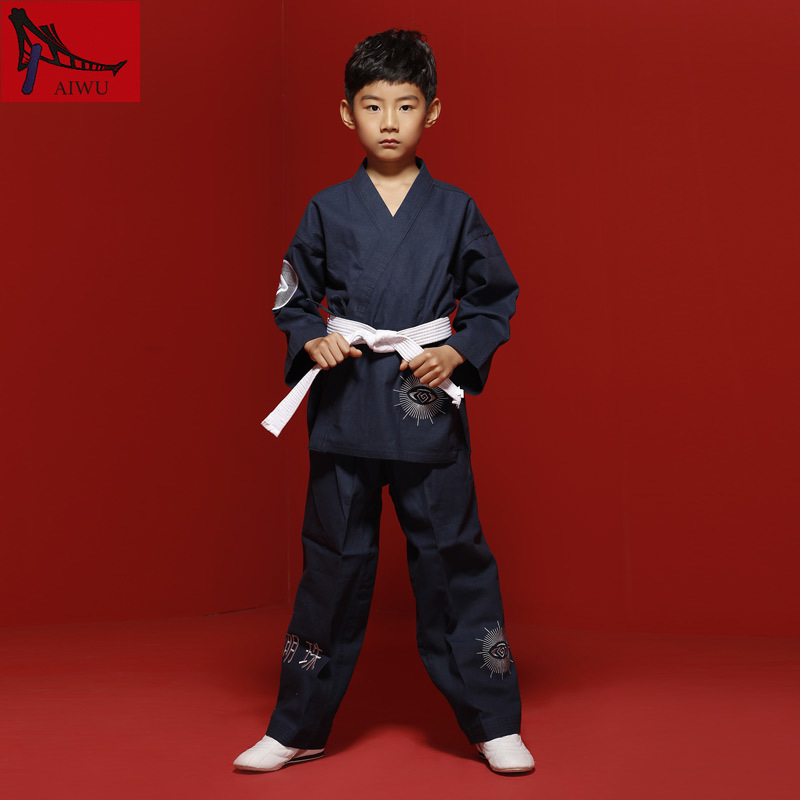 GOOD Tae Kwon Do Children Taekwondo Uinform For Poomsae & Training,WTF Uniform,110-155cm For Boy And Girl