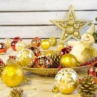 24 قطع شجرة عيد الميلاد كرات الحلي زخرفة حزب الزفاف 6 سنتيمتر Nov15