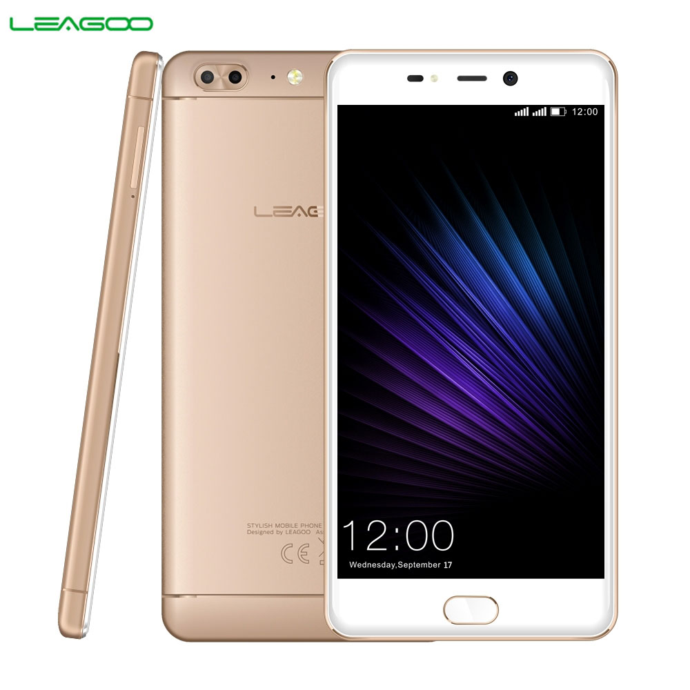 LEAGOO T5 RAM 4GB ROM 64GB Dual Back Camera Fingerprint Identification 5.5'' 2.5D Curved Sharp Android 7.0 MTK6750T Octa Core