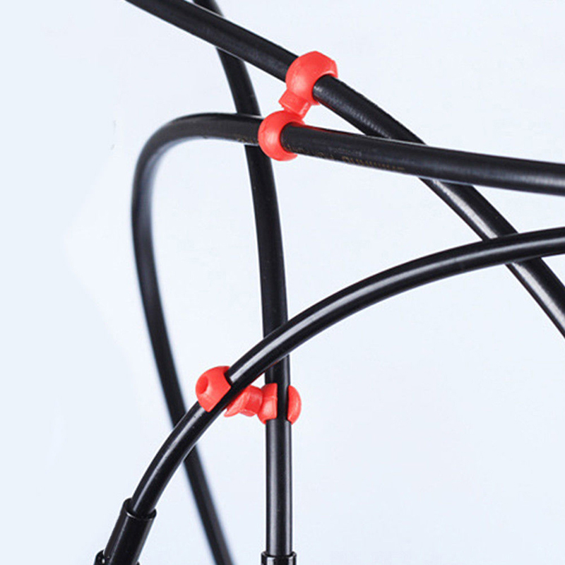 Degree Rotation Bicycle Brake Line Pipe S-style Clips Buckle Cable Housing Clip