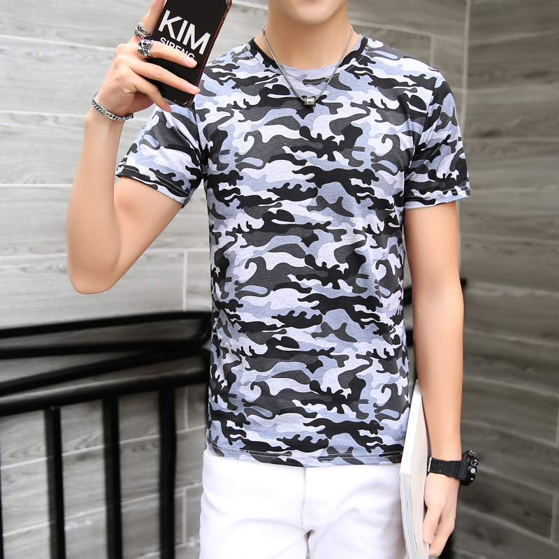 Top Tees for Men Camouflage T Shirt Men Fashion Short Sleeve Cotton T Shirt Male Jogge T Shirt Mans Plus Size M-5XL Homme AQ0404