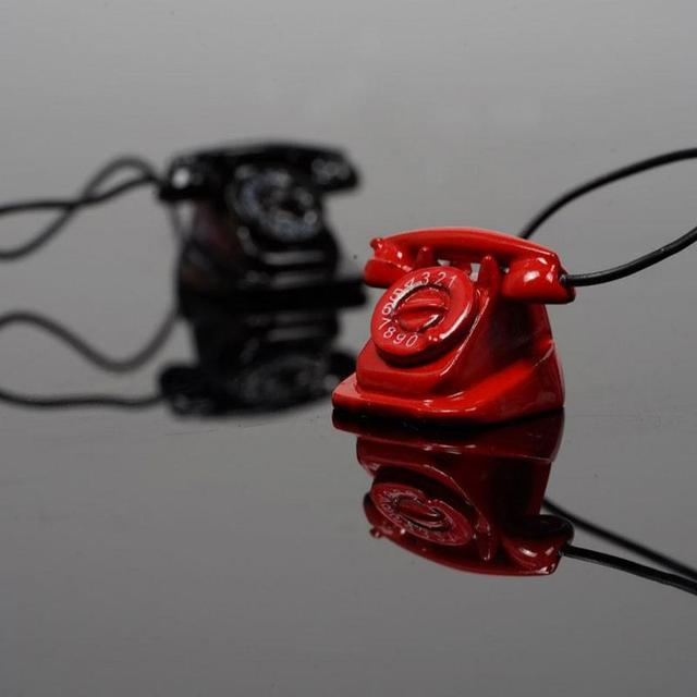 Mini Retro Small Phone For 1:12 Doll House