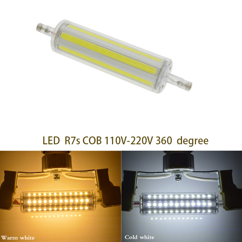 R7s Led 118mm 30w : dimmable r7s cob led bulb r7s led lights 118mm 30w j118 lamp ac220 240v replace halogen ~ Frokenaadalensverden.com Haus und Dekorationen