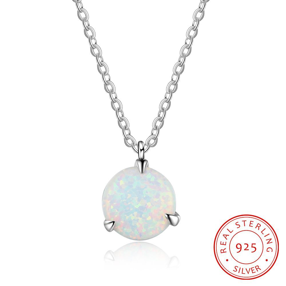 цена на MKP20 925 sterling silver necklace,classic circular pendant with three catch ,chain length 45cm necklace