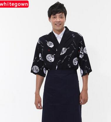 Hot  Unisex Japanese Korea style medium sleeve chef cook uniform chef waitress work wear restaurant cook shirt suit