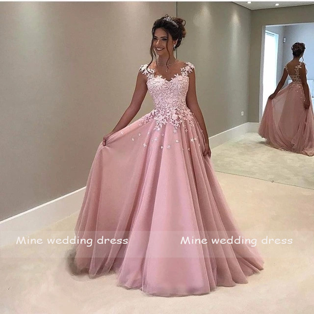 Princess Pink Wedding Dress Robe De Mariee Wedding Gowns Sweetheart Sleeveless Floor Length Lace Bride Dress