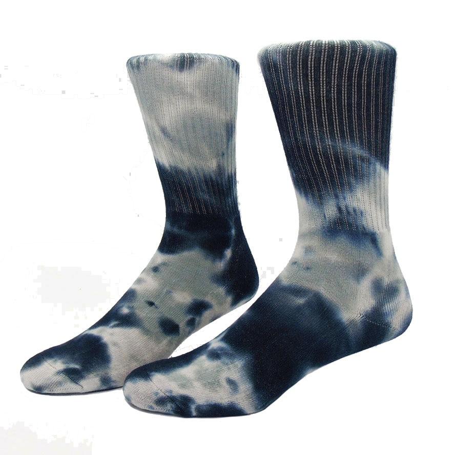New Ethnic Strip Basketball Socks Combed Cotton Towel Bottom Knee Socks Skateboard Outdoor Sport Hiking Skiing Sock