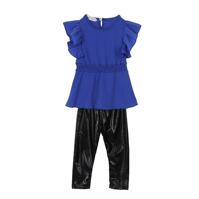 China moda bebé niño Niñas niño vestido de los cabritos camiseta Tops blusa  + pu Pantalones trajes 1-6 t 2232d8967af1