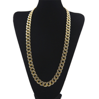 Gold Finish 15mm 30 Iced Out Hip Hop CZ Chain Necklaces Mens Miami Cuban High Quality Fashion Bling Necklace For Men And Women
