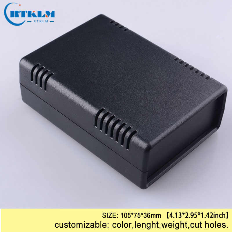 Custom behuizing abs plastic behuizing diy doos desktop plastic behuizing voor elektronica distributie junction box 105*75*36mm