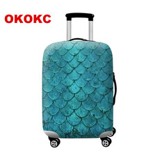 OKOKC Feather Luggage Cover for 18-32 Inch Trolley Suitcase Protect Dust Bag Case Travel Accessory