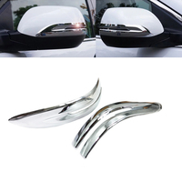 Car Styling 2Pcs ABS Chrome Car Rearview Mirror Strip Cover Trim Decorate Frame Moulding For Honda