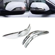 JEAZEA 2Pcs ABS Chrome Car Rearview Mirror Strip Cover Trim Decorate Frame Moulding For Honda CRV CR-V 2012 2013 2014 2015