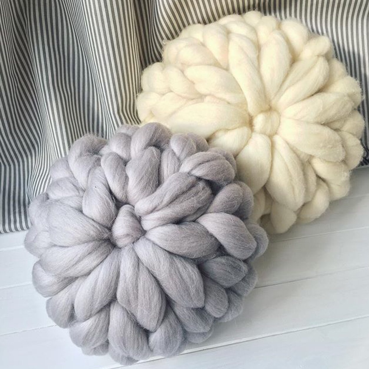 Crochet Chunky Wool Pillow Baby Room Decorative Pillows Cute Kids Car Pillow Cushion Knitting Pillow Birthday Christmas Gift