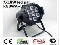 Super LED Spot Light LED Can Par 7x18W Light Cast Aluminum RGBWA + UV 6IN1 dmx512 Stage Light Professional Home Entertainment DJ