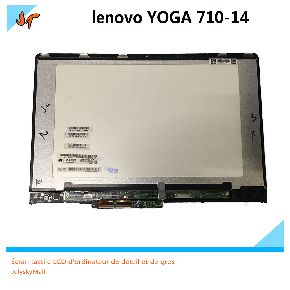Suitable for Lenovo Yoga710-14 Yoga 710 14 YOGA 710-14IKB 14-inch B140HAN03.0 LP140WF7 LCD touch screen assembly 1920 * 1080 dis new original for lenovo yoga 720 13ikb yoga 720 13 screen assembly lp133wf4 spb1 1920 1080 lcd screen