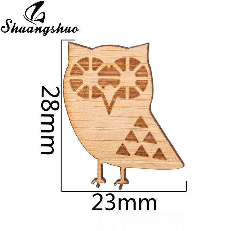 Shuangshuo милое животное, сова деревянные броши булавки для женщин одежда лацкан булавки аксессуары шикарные ювелирные изделия воротник зажим для свитера булавка
