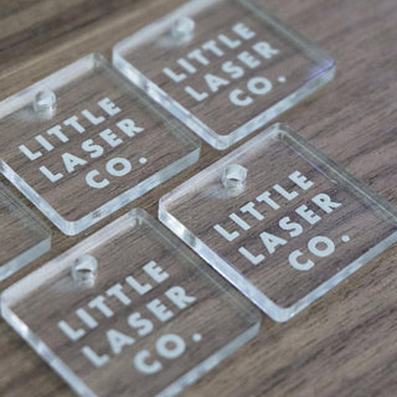 Acrylic Laser Cut Square Tags Custom Acrylic Tags Clear Acrylic Tags  Custom Logo Tags
