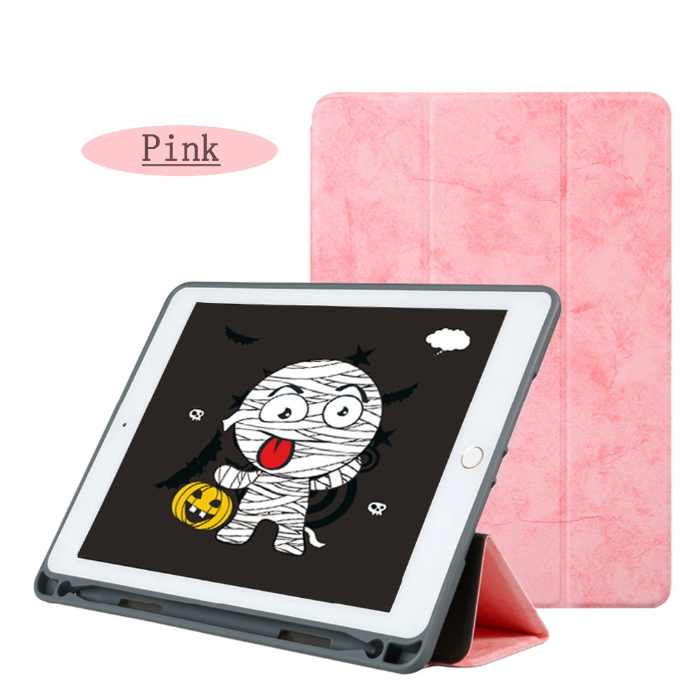 Case For Ipad 9.7 Inch 2017/Release 6Th With Pen Tray TPU Air 1/2 Pro 9.7 Smart Sleep Wake Vintage PU Leather Shell